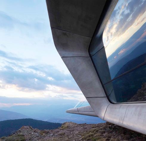 השפה האופיינית לזאהה חדיד. מוזיאון בהר מסנר, איטליה (צילום: באדיבות World Architecture Festival announces 2016)