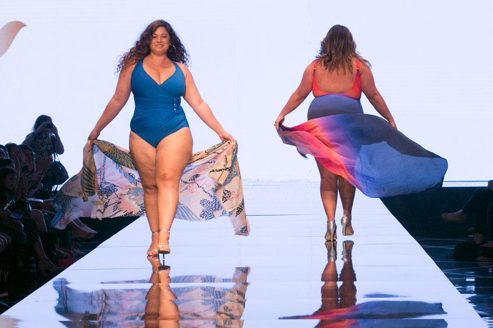 כ-30 נשים בכל המידות, הצבעים והגילאים לקחו חלק בתצוגת בגדי ים שהוביל מותג הטיפוח Dove (צילום: סטודיו לנס)