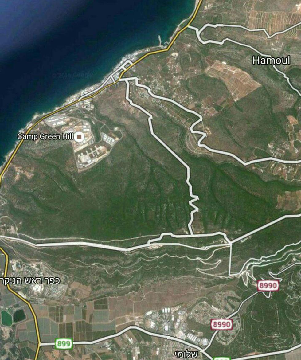 הוואדיות בדרום לבנון שמובילים לישראל ()