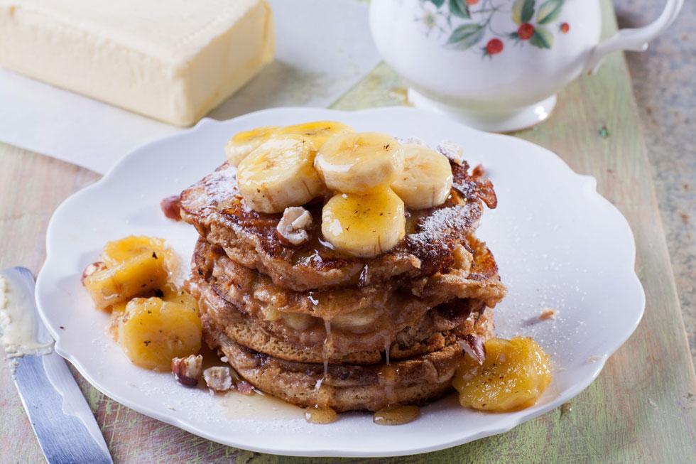 פנקייק בננות וקמח כוסמין  (צילום: בועז לביא)