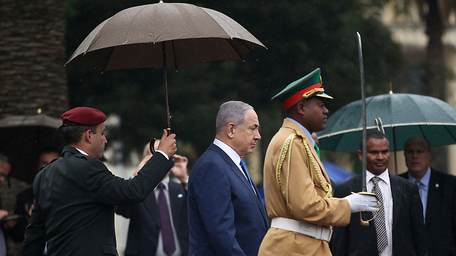 Netanyahu in Ethiopia (Photo: Reuters)