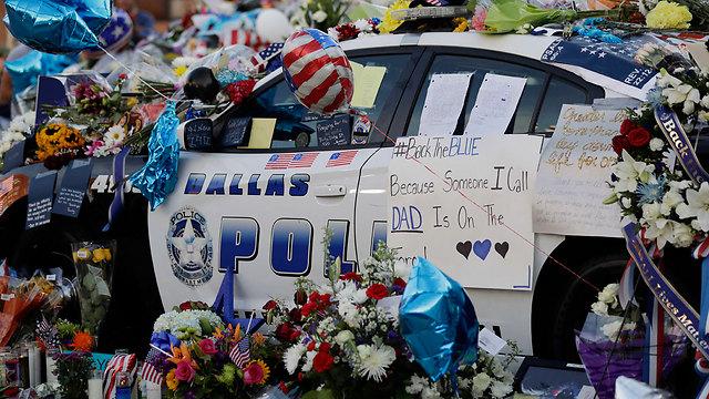 אירוע הירי בטקסס בו נרצחו שוטרים (צילום: AP) (צילום: AP)