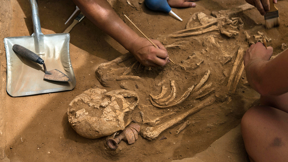 Discovery of Philistine bones (Photo: AP)
