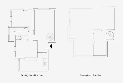 תוכנית הדירה לפני השיפוץ (שרטוט: אדריכל כפיר גלאטיה אזולאי)