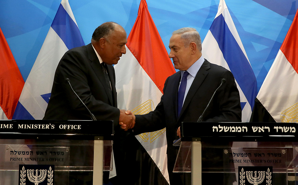 Netanyahu and Shoukry (Photo: AFP) (Photo: AFP)