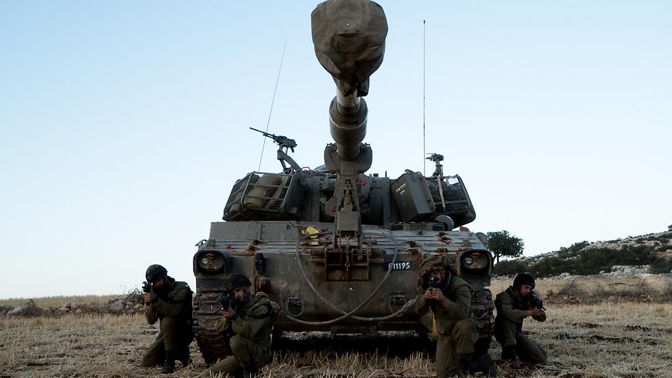 """תרגול תותחנים בבקעת הירדן  (צילום: דובר צה""""ל) (צילום: דובר צה"""