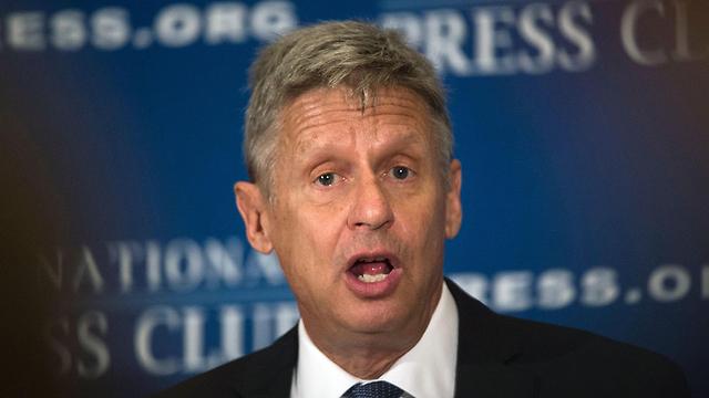 הפתיע עם 9%. המועמד הליברטריאני גארי ג'ונסון (צילום: AFP) (צילום: AFP)