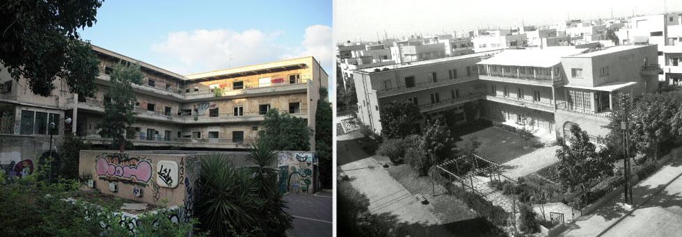 שתי תקופות בחיי הבניין, ששימש תלמידות דתיות במסגרת ''בית צעירות מזרחי''. הן למדו וגרו כאן (צילום: באדיבות דני רכט/אתר תל-אביב 100, אמית הרמן)
