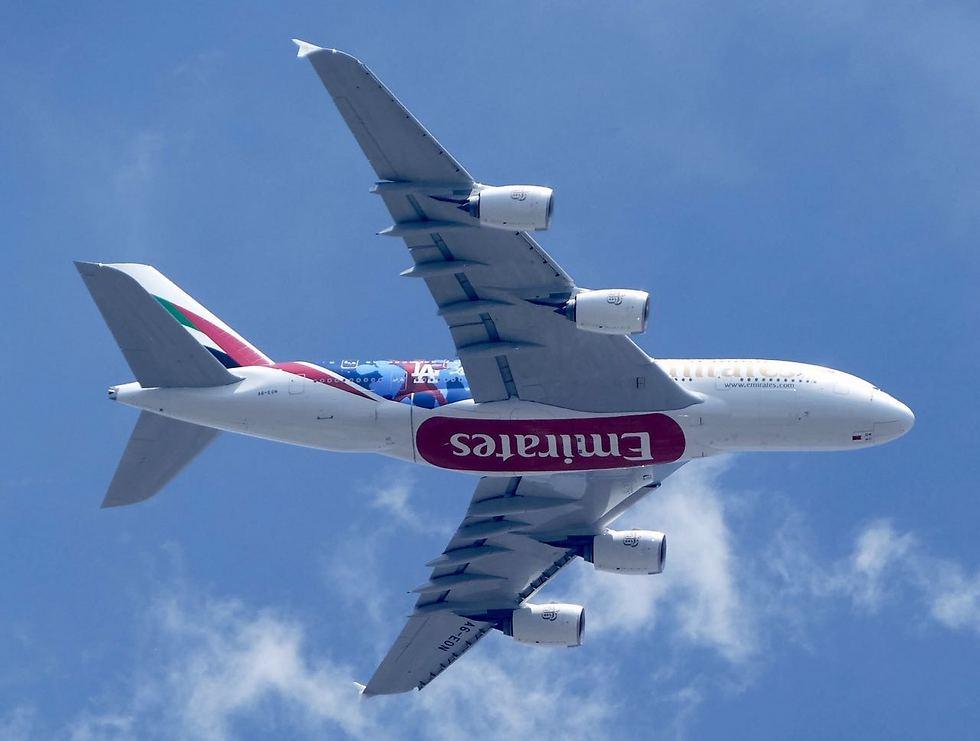 """מטוס Airbus A-380 של """"אמירייטס"""". הטובה בעולם (צילום: דני שדה) (צילום: דני שדה)"""
