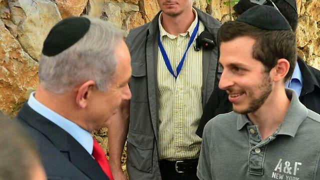 Gilad Shalit with Prime Minister Netanyahu (Photo: GPO)