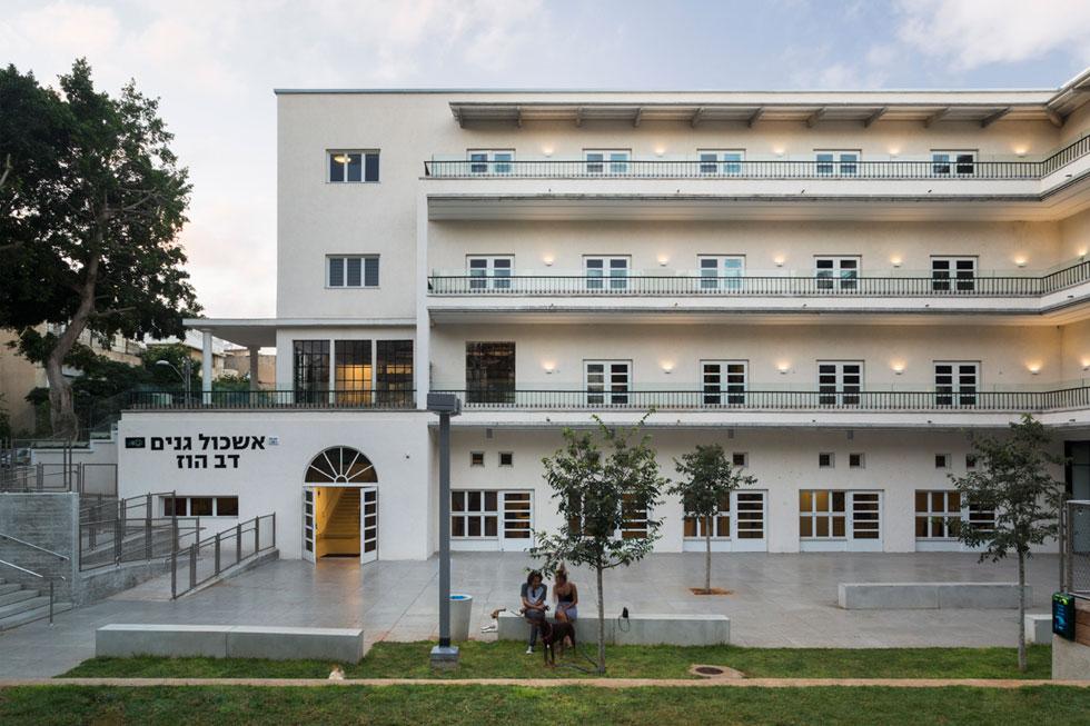 מרכז קהילתי דב הוז. נחנך במקור: 1939. ננטש לפני 15 שנים, נחנך כעת מחדש כמתחם גני ילדים ומרכז קהילתי (צילום: Mikaela Burstow Uziel)
