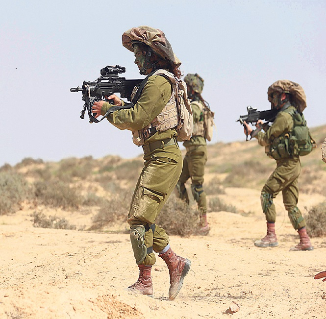 The Carcal Battalion. A special unit for women fighters (Photo: Gadi kabalo)