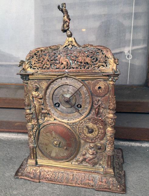 שעון אסטרונומי נדיר מהמאה ה-16  (צילום: גדי שמעון)