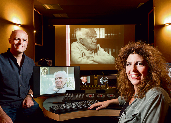 Yariv Mozer and Yael Perlov, the creators of 'Ben-Gurion: Epilogue'