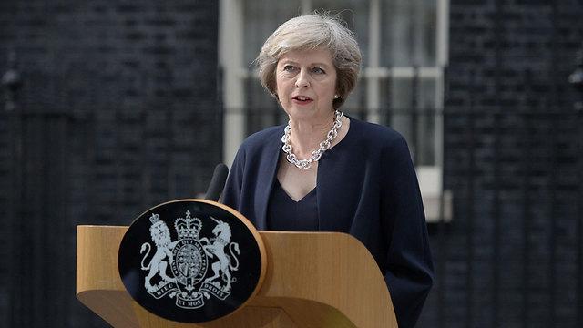ראשת הממשלה החדשה בנאום ראשון בתפקיד (צילום: AFP) (צילום: AFP)