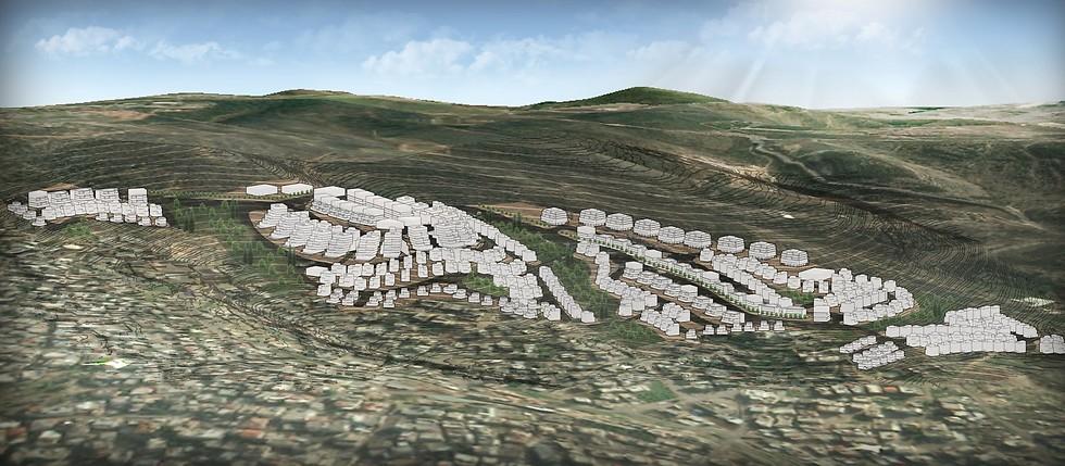 הדמיית תוכנית הבנייה בעיר טמרה (הדמיה באדיבות רשות מקרקעי ישראל) (הדמיה באדיבות רשות מקרקעי ישראל)