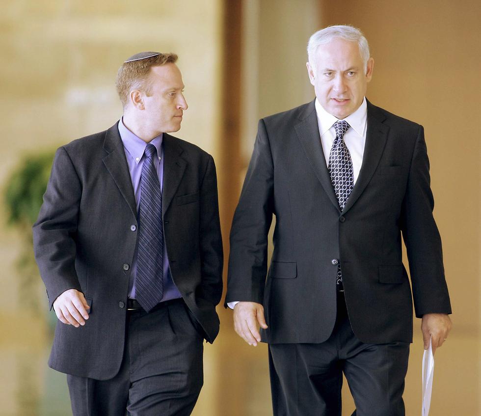 Harow and Netanyahu (Photo: Alex Kolomoisky)