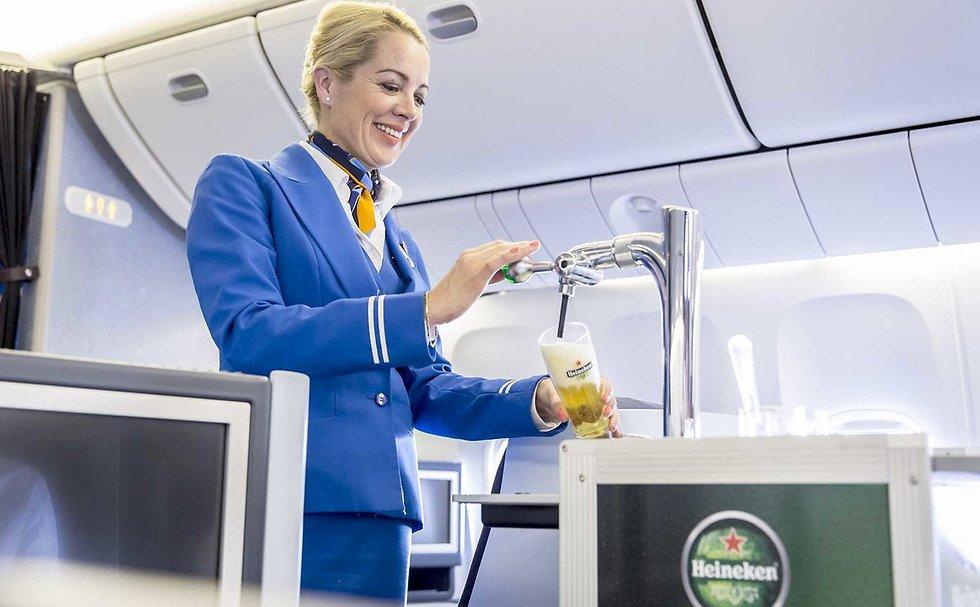 הבירה של KLM. הצלחה בקרב הנוסעים (צילום: KLM)