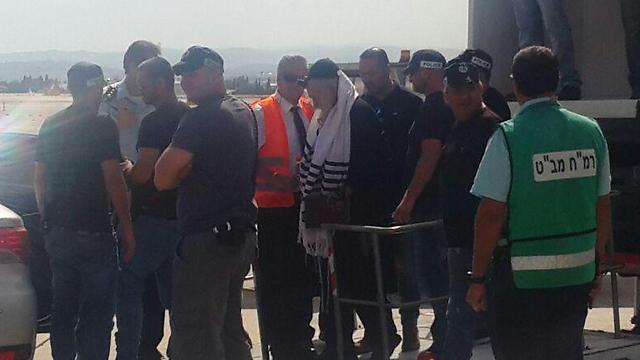 Berland arriving at Ben Gurion Airport
