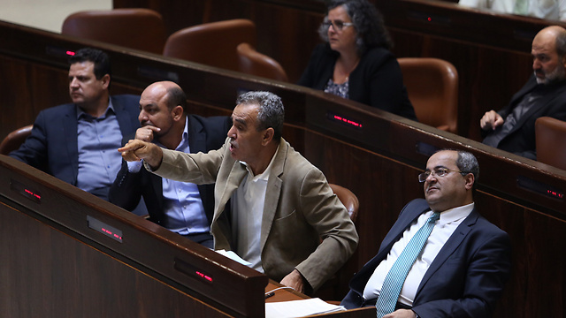 Arab MKs from the Joint List (Photo: Gil Yohanan)