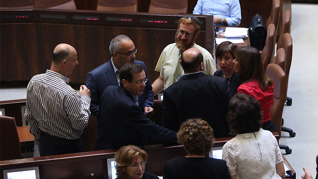 MKs and ministers during the discussion on the bill (Photo: Gil Yohanan)