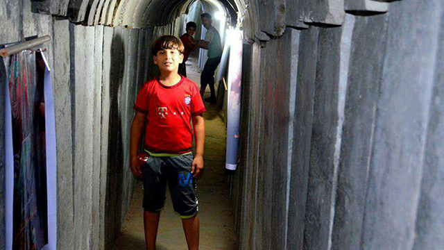 A child visiting the tunnel