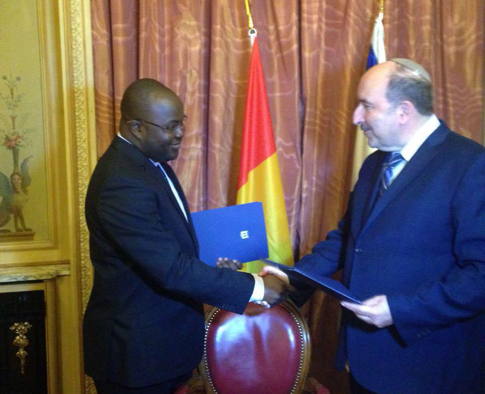 Israel and Guinea now have diplomatic relations