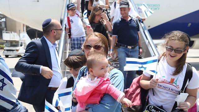 French immigrants landing in Israel last year (Photo: Motti Kimchi)