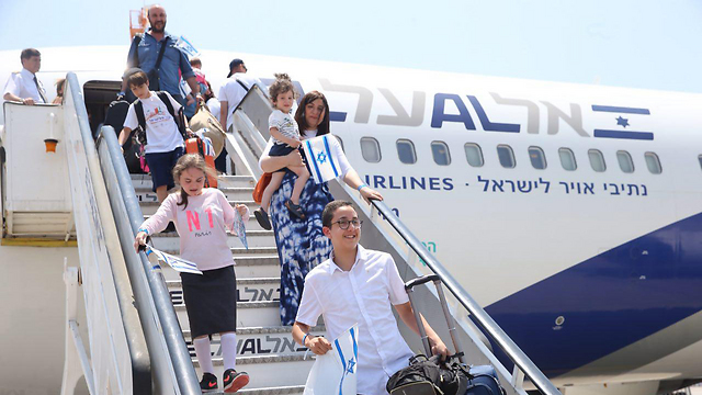 French immigrants arriving in Israel. A 42% decline from the same period in 2015. (Photo: Motti Kimchi)