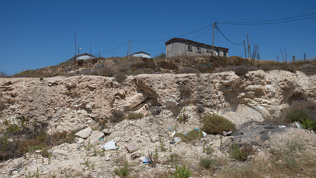 One of the houses in the outpost (Photo: Tal Shahar)