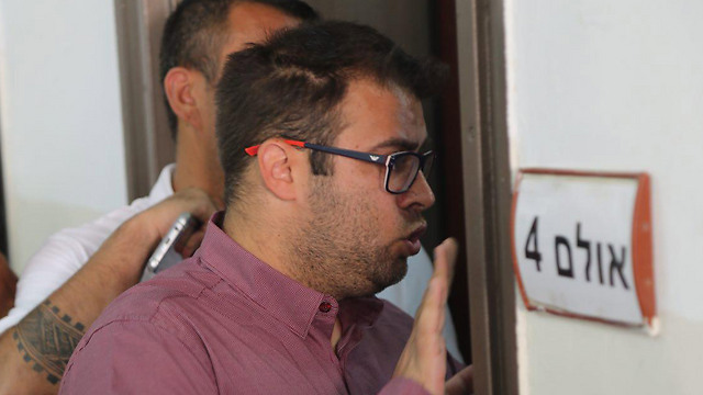 Likud MK Oren Hazan attends the trial hearing (Photo: Motti Kimchi)
