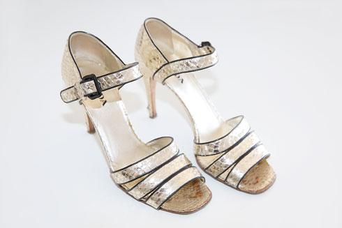 נעלי עקב מטאליות, פראדה (צילום: ענבל מרמרי)