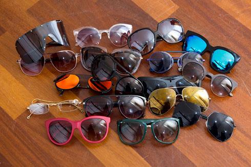 אוסף משקפי שמש (צילום: ענבל מרמרי)
