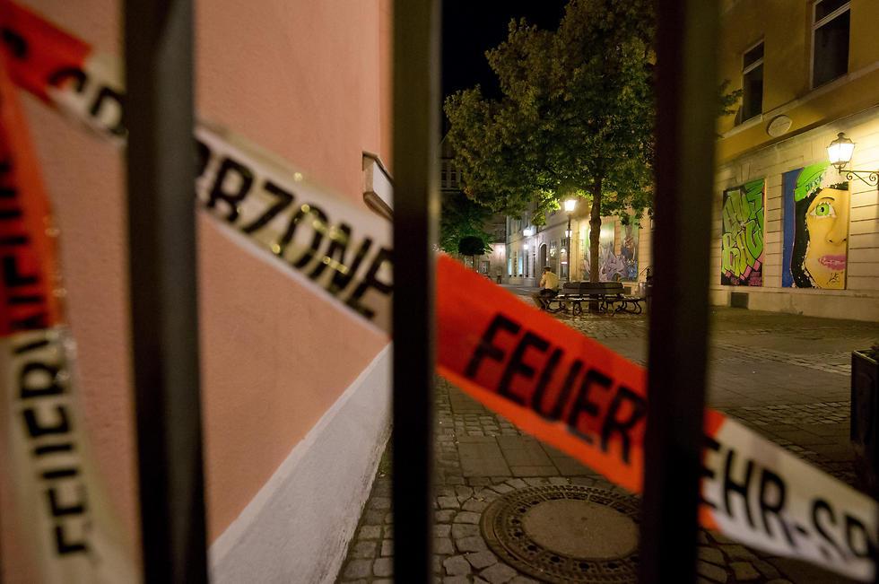 The scene of the explosion (Photo: EPA)
