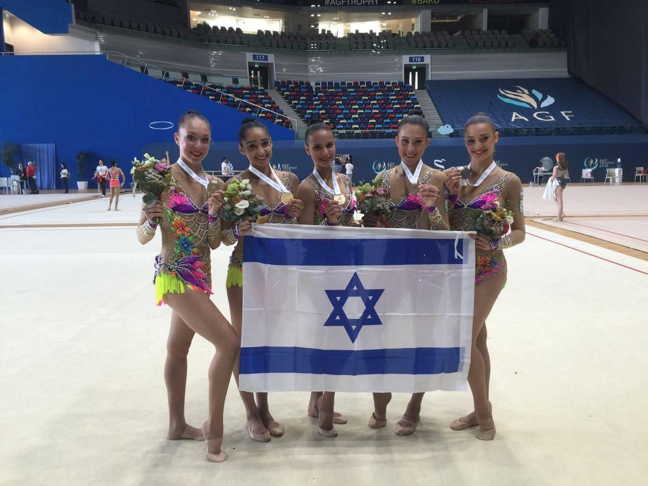 Israel wins gold in Baku (Photo: TPS/Courtesy)