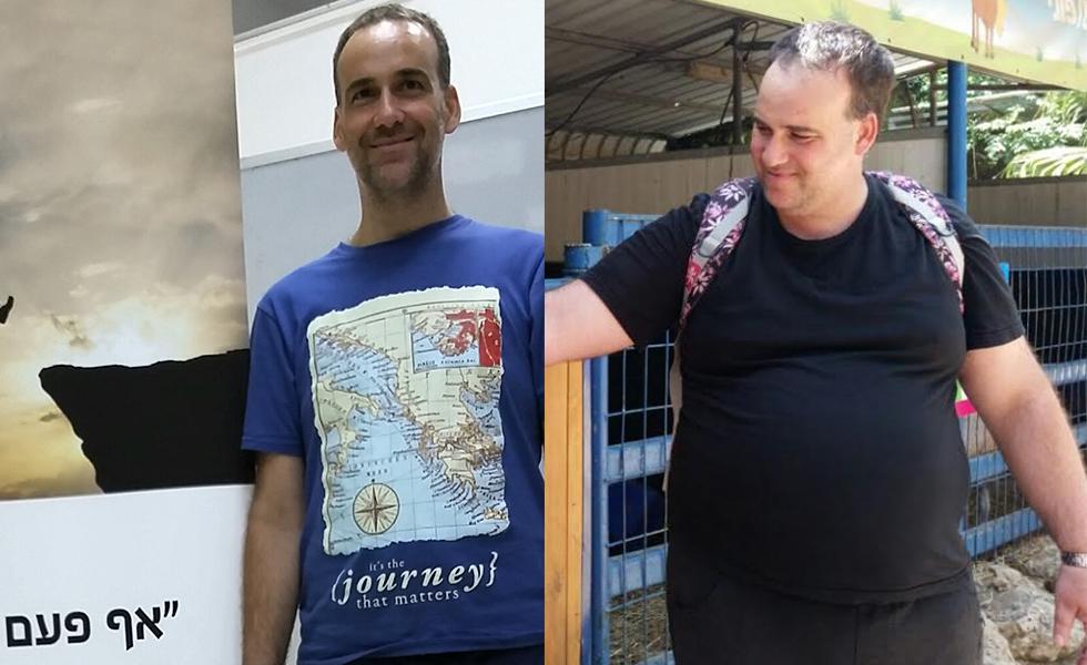 גלעד סושרד, לפני ואחרי השינוי. הגיע למשקל שסיכן את חייו