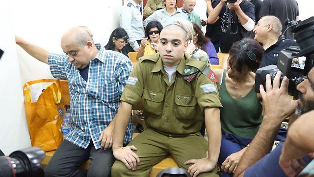 Sgt. Elor Azaria in court (Photo: Motti Kimchi)