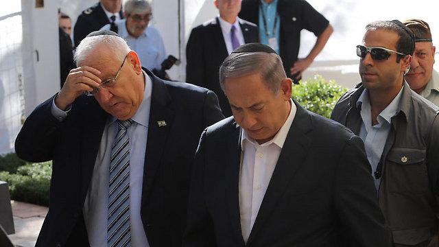 ראש הממשלה נתניהו ונשיא המדינה ריבלין (צילום: גיל יוחנן) (צילום: גיל יוחנן)