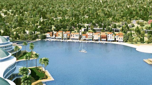 מלוניות בסגנון העיר קסיס באגם מונפורט (הדמייה: טוטם) (הדמייה: טוטם)
