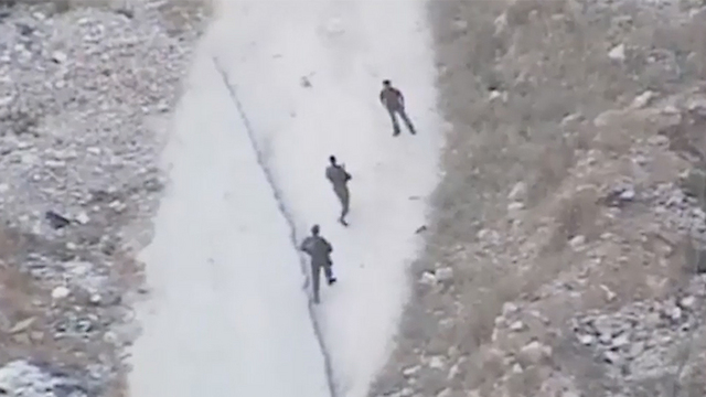IDF forces patrolling the area around route 443 (Photo: Shahar Goldstein, IDF Spkesperson's Unit)