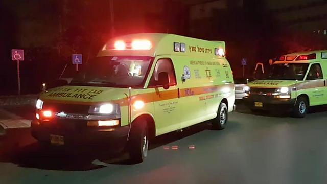 Ambulances arrive to treat the injured in Kuseife (Photo: MDA)