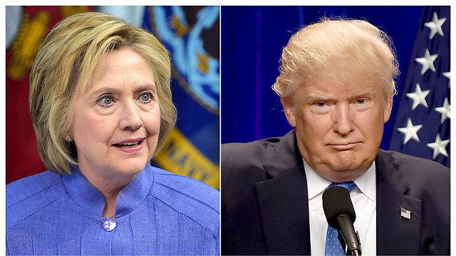 טראמפ וקלינטון. שניהם לא אהודים (צילום: AFP) (צילום: AFP)