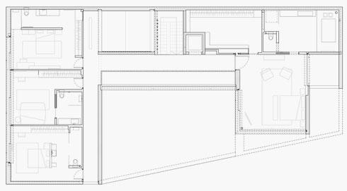 תוכנית הקומה העליונה (תוכניות: פיצו קדם אדריכלים)