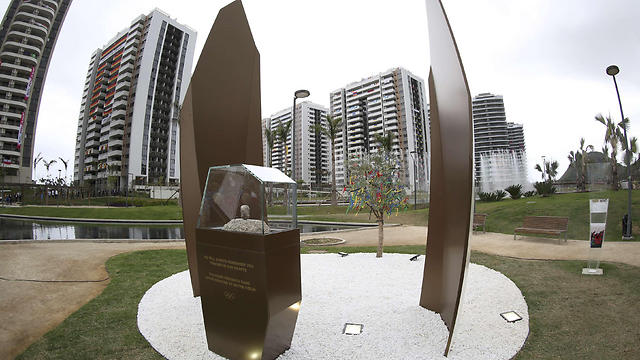 A memorial in honor of Israeli Olympic athletes killed by Palestinian gunmen at the 1972 Munich Olympics stands in the Olympic Village ahead of the Summer Olympics in Rio de Janeiro (Photo: AP)