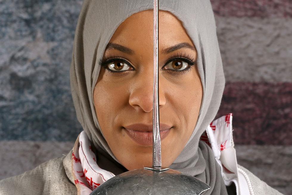 איבטיחאג' מוחמד. האמריקאית הראשונה עם חיג'אב באולימפיאדה (צילום: Gettyimages)