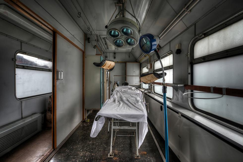 רכבת שפעם שימשה כבית חולים נייד (צילום: Niki Feijen)