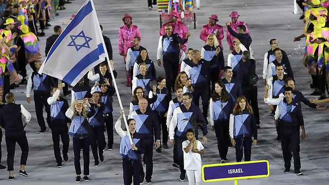The Israeli Olympic delegation. (Photo: AP)