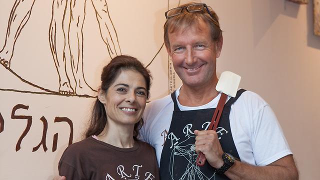 מרקו קמוראלי וסיסי פגאני, גלידריית ארטא (צילום:דניאל קונטיני)