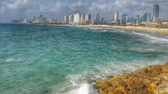 The Mediterranean Sea on the coast of Tel Aviv-Jaffa (Photo: Asaf Magal)