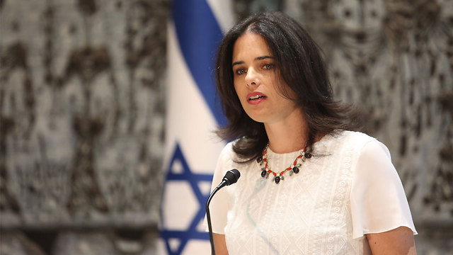 "Minister Shaked. ""2016-model terrorism needs to be met with a 2016-model response."" (Photo: Gil Yohanan)"